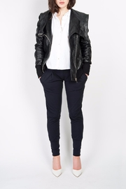 BAM Macy Leather Hoodie - Front full body