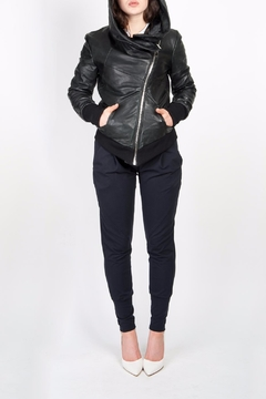 Shoptiques Product: Macy Leather Hoodie