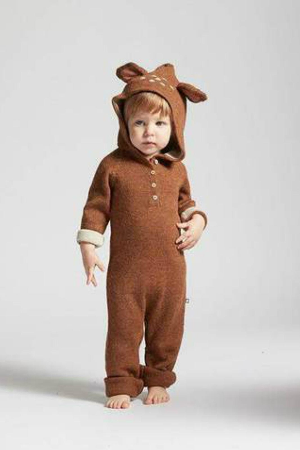 Oeuf Bambi Hooded Jumper - Front Full Image