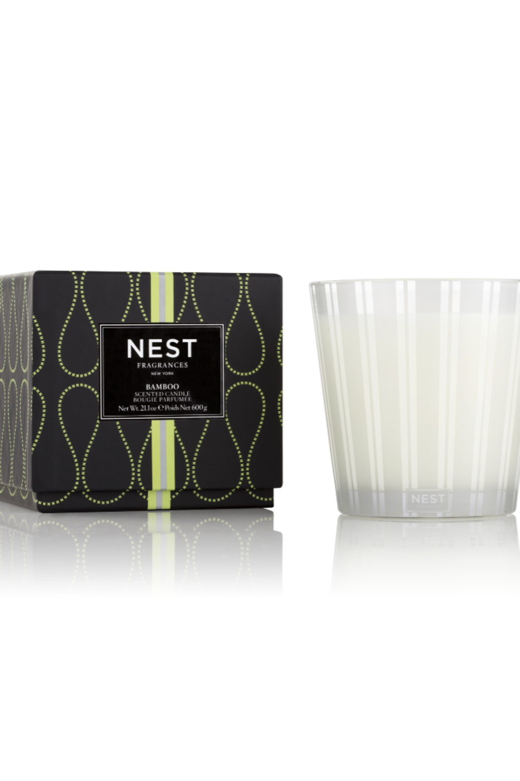 The Birds Nest BAMBOO 3 WICK CANDLE - Main Image