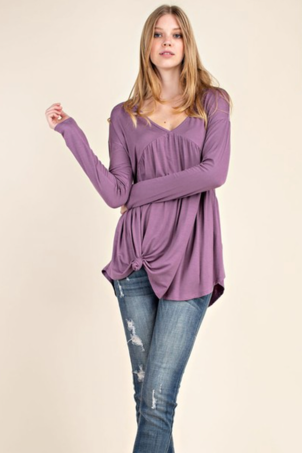 Mittoshop Bamboo Babydoll Top - Front Full Image