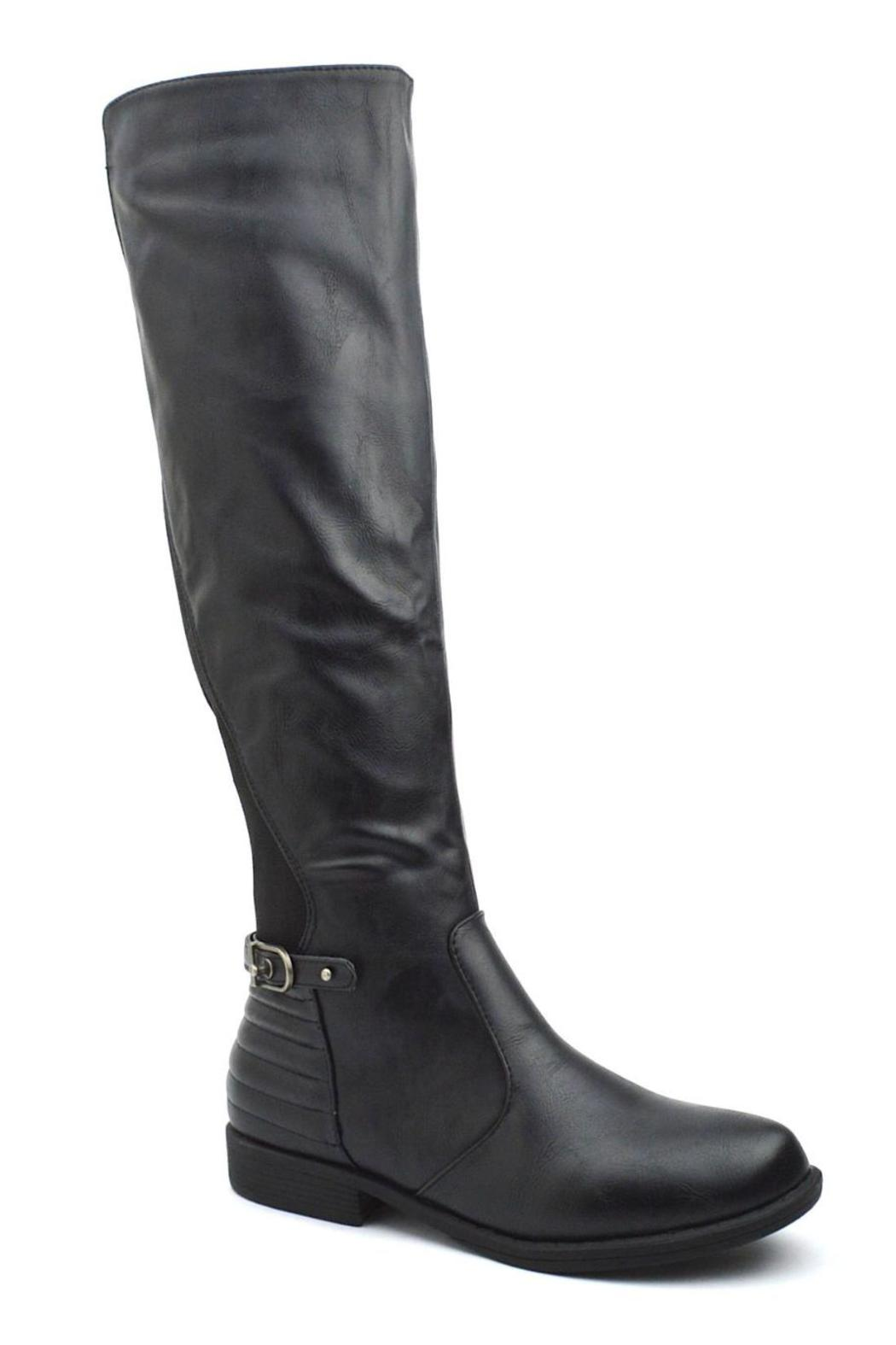 Bamboo Back Elastic-Riding Boots - Front Full Image