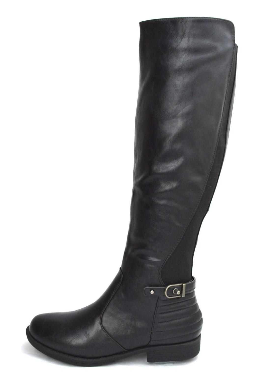 Bamboo Back Elastic-Riding Boots - Front Cropped Image