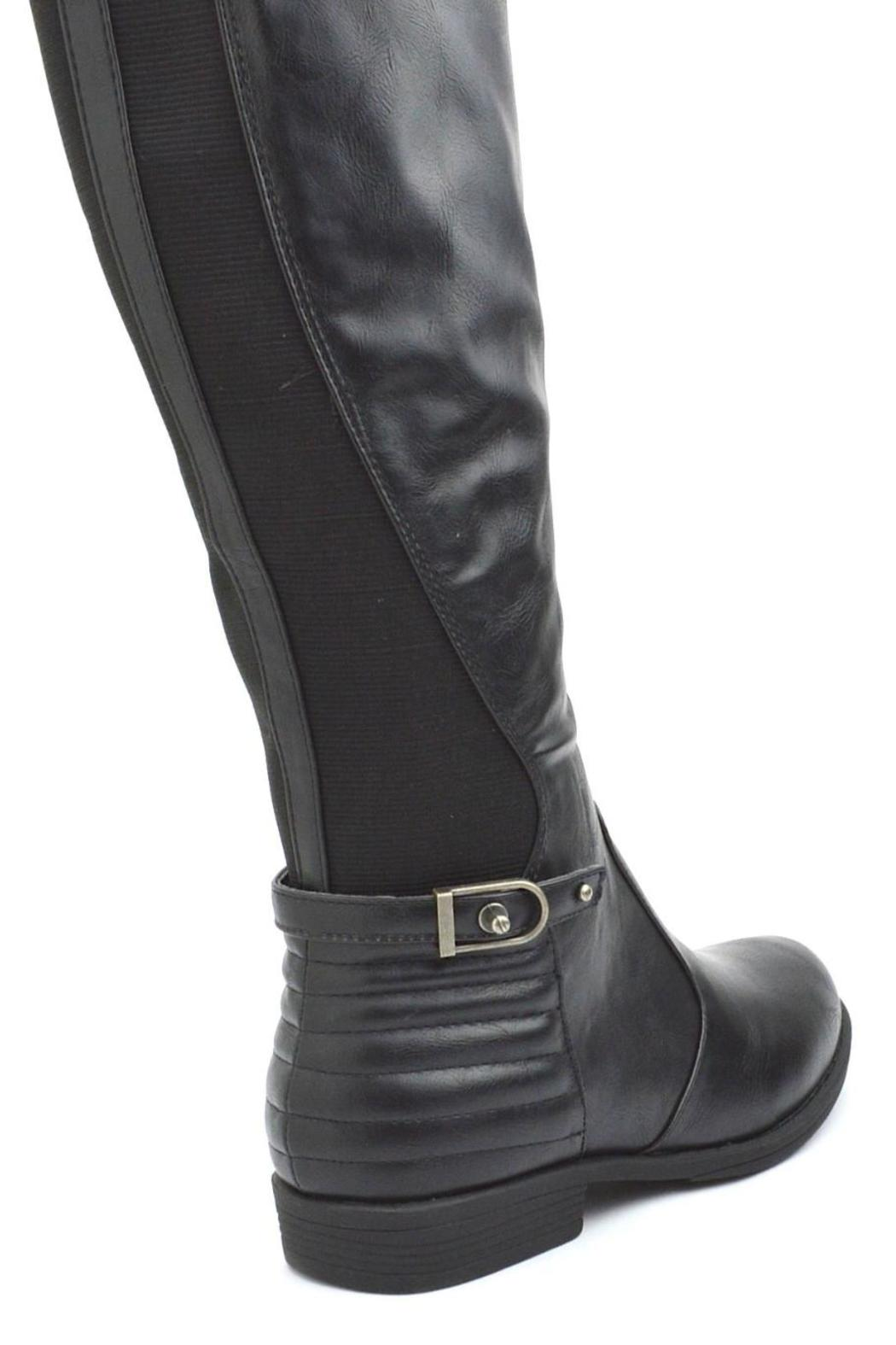 Bamboo Back Elastic-Riding Boots - Side Cropped Image
