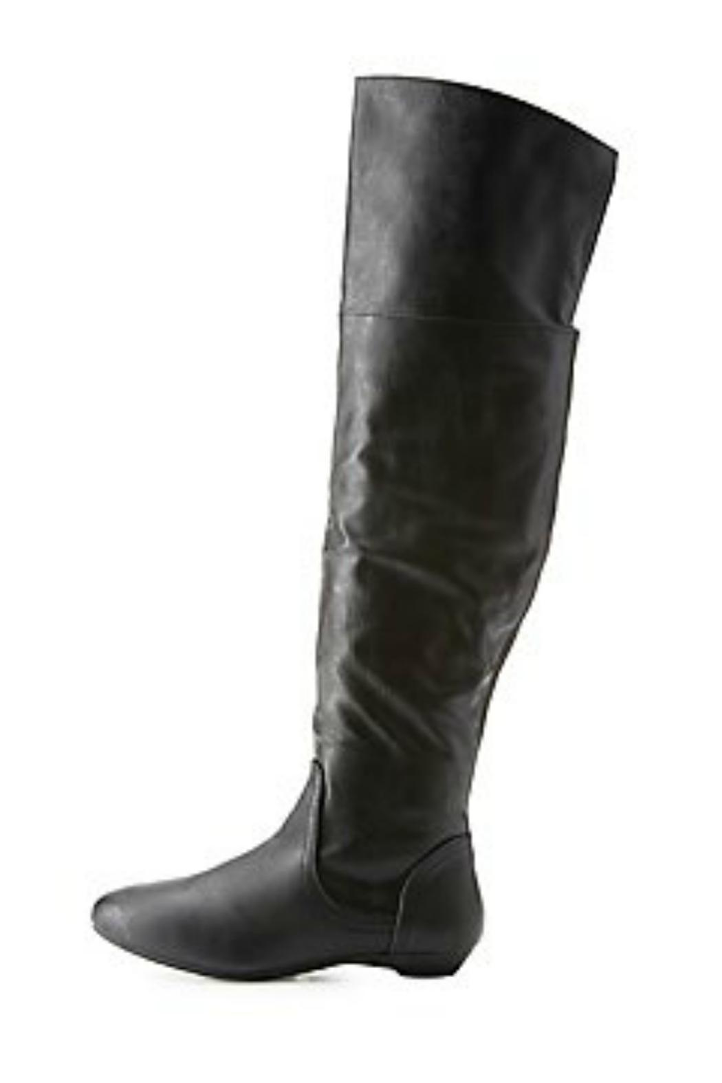 Bamboo Black Leather Boots from Atlanta by Natasha Couture Fashion ...