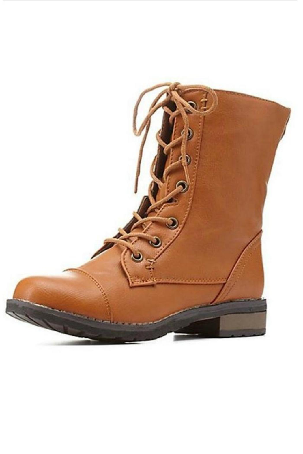 Bamboo Brown Combat Boots from Atlanta by Natasha Couture Fashion ...