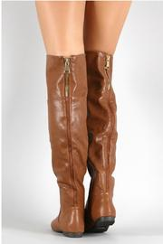 Bamboo Brown Leather Boots - Side cropped