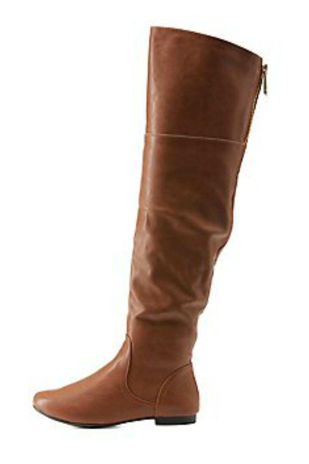 Bamboo Brown Leather Boots from Atlanta by Natasha Couture ...