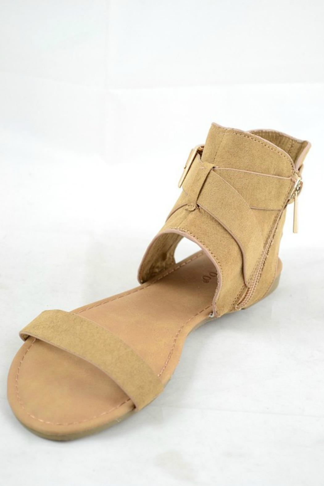 Bamboo Buckle Accent Sandal - Main Image
