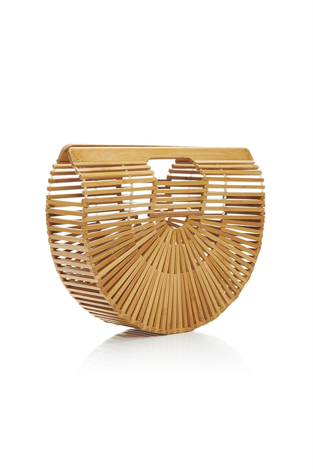 Catherine K Collections Bamboo Clutch Bag - Front Full Image