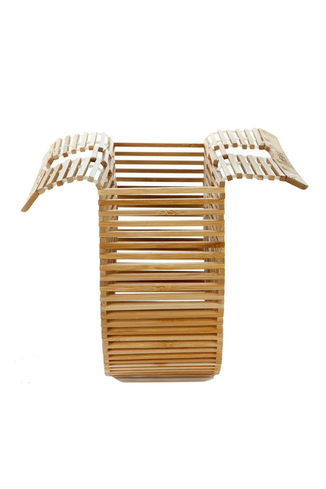 Catherine K Collections Bamboo Clutch Bag - Back Cropped Image