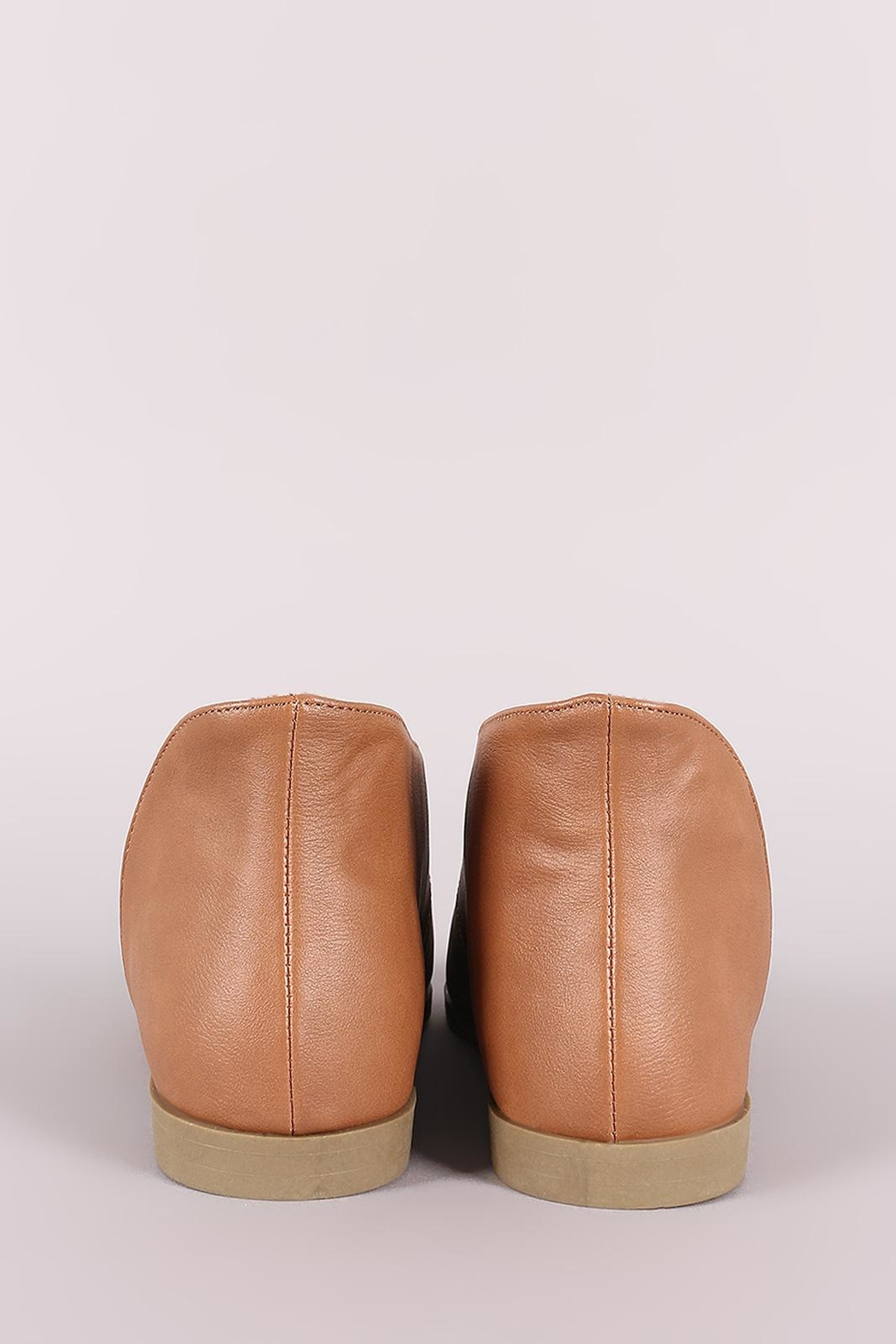 Bamboo Cut-Out Flat Bootie - Side Cropped Image