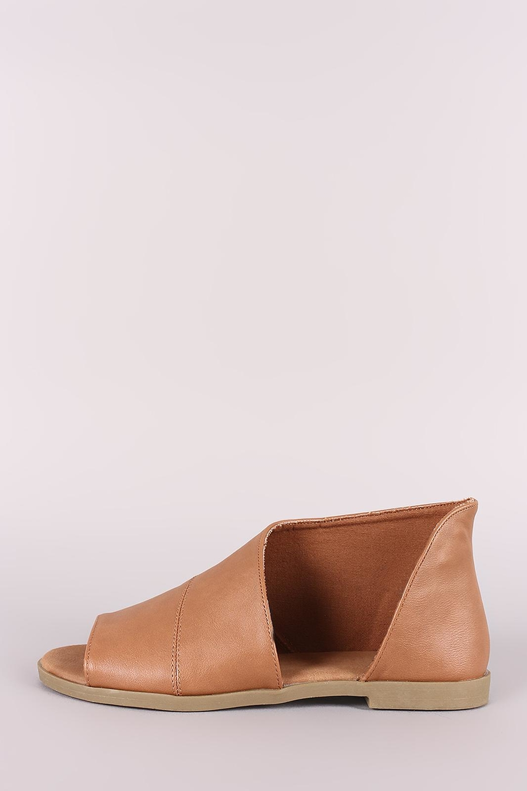 Bamboo Cut-Out Flat Bootie - Main Image