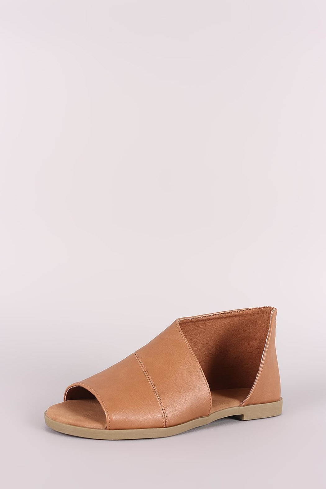 Bamboo Cut-Out Flat Bootie - Front Full Image