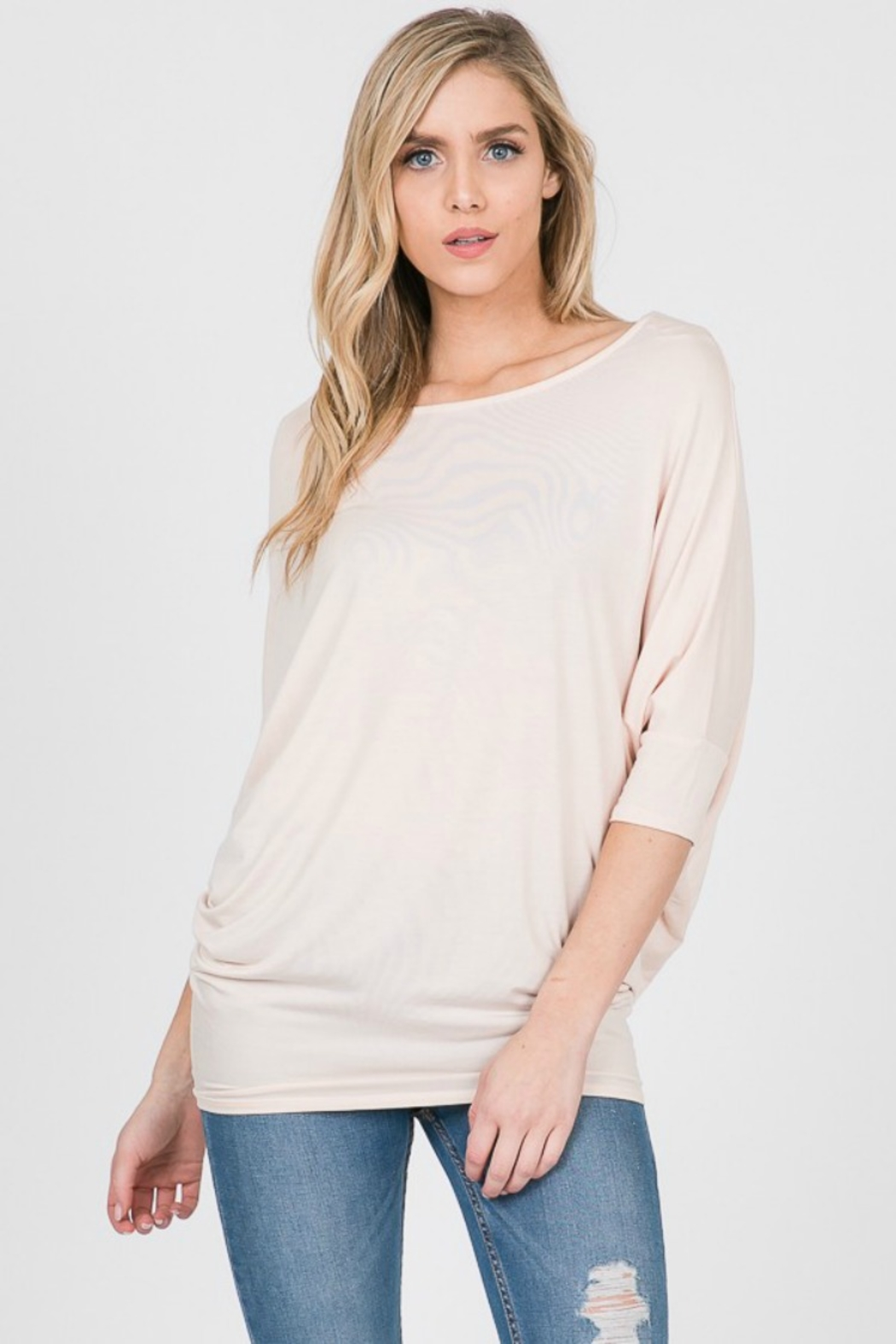 Emma's Closet Bamboo Dolman Top - Front Cropped Image