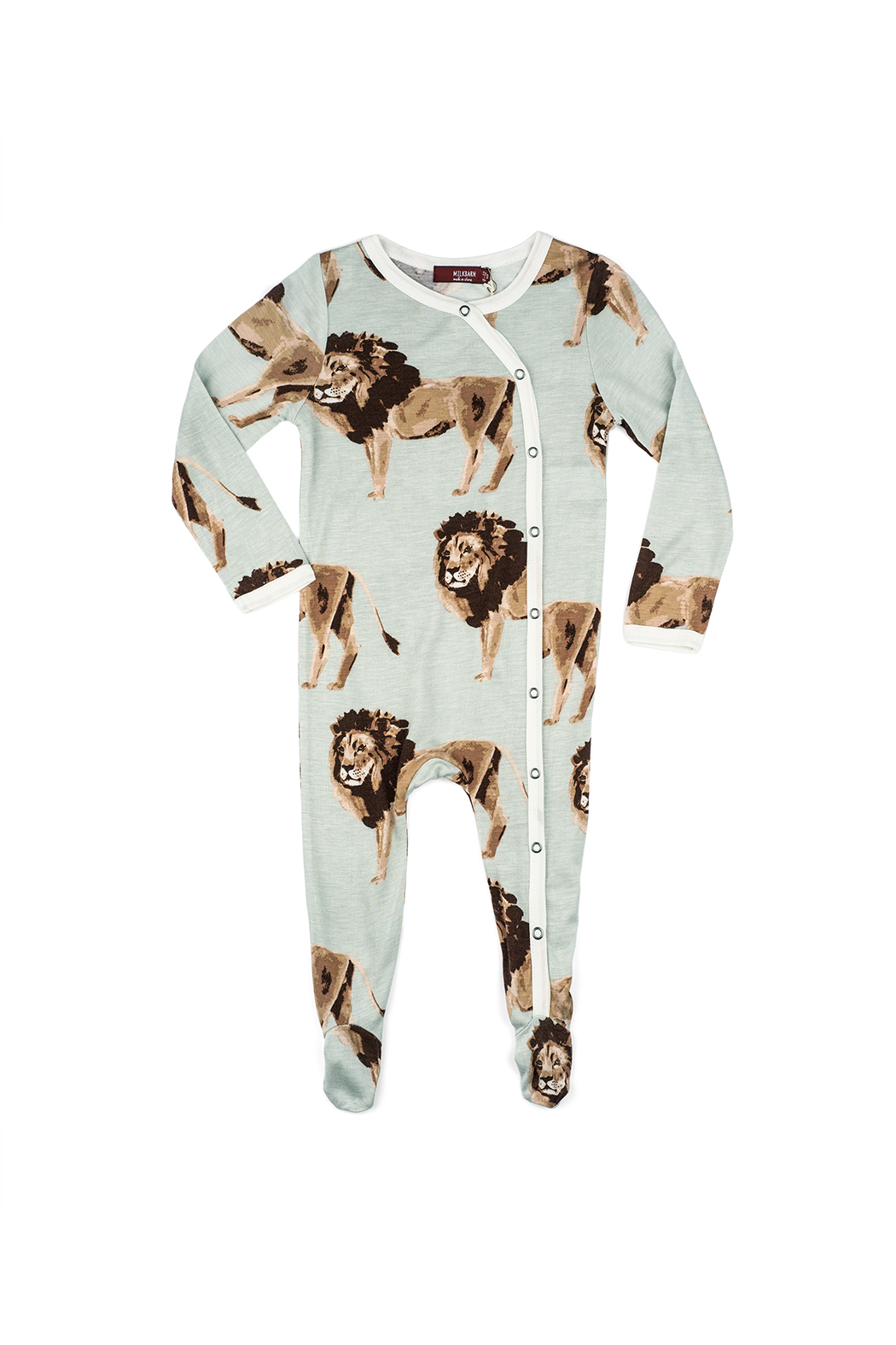 Milkbarn Bamboo Footed Romper - Front Cropped Image