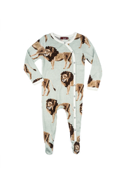Milkbarn Bamboo Footed Romper - Front cropped