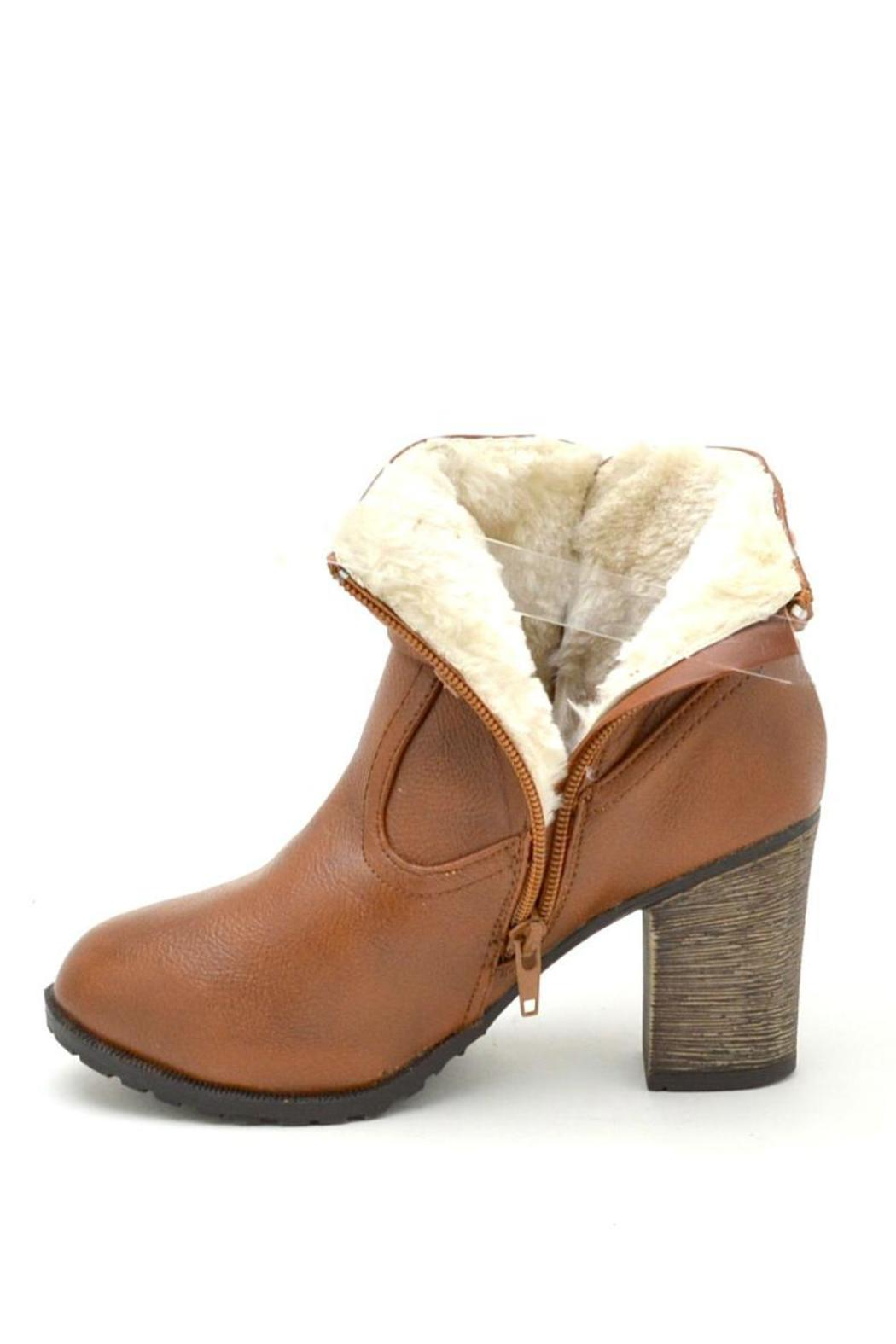Bamboo Fur-Lined Belted Booties - Side Cropped Image