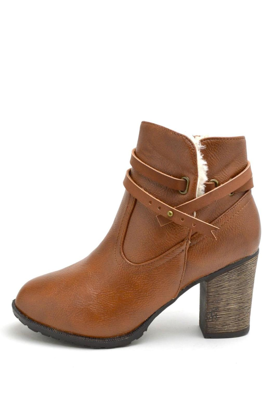 Bamboo Fur-Lined Belted Booties - Main Image