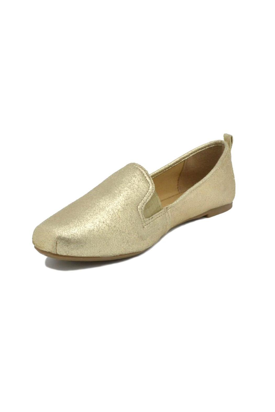 Bamboo Gold Metallic Loafers - Front Full Image