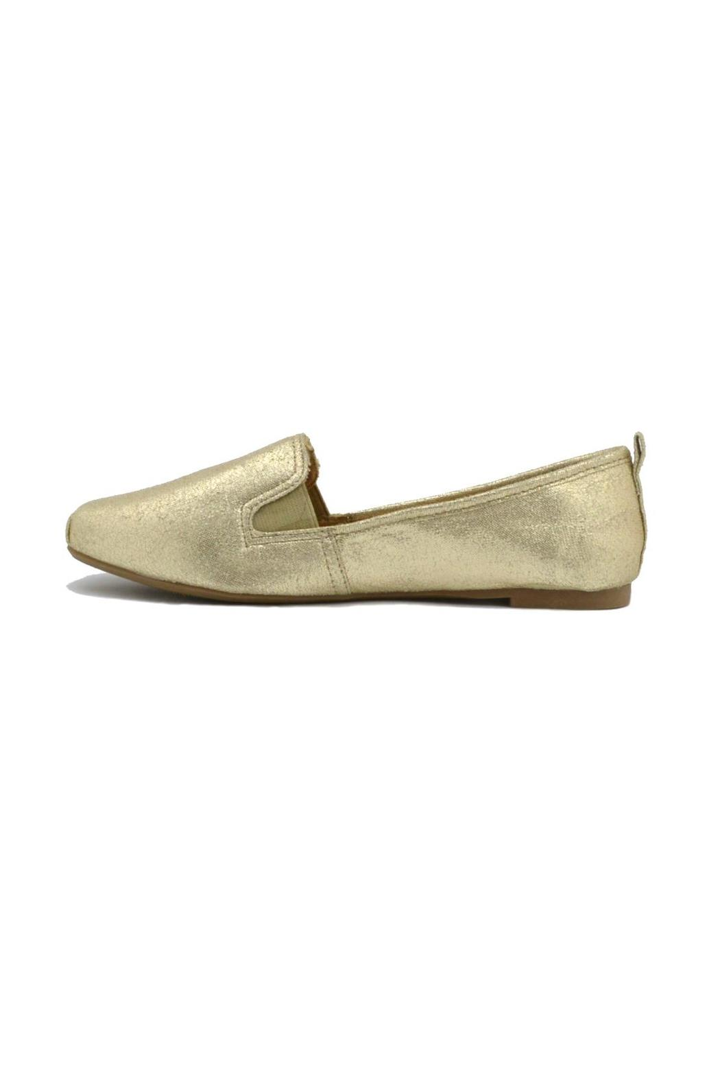 Bamboo Gold Metallic Loafers - Main Image
