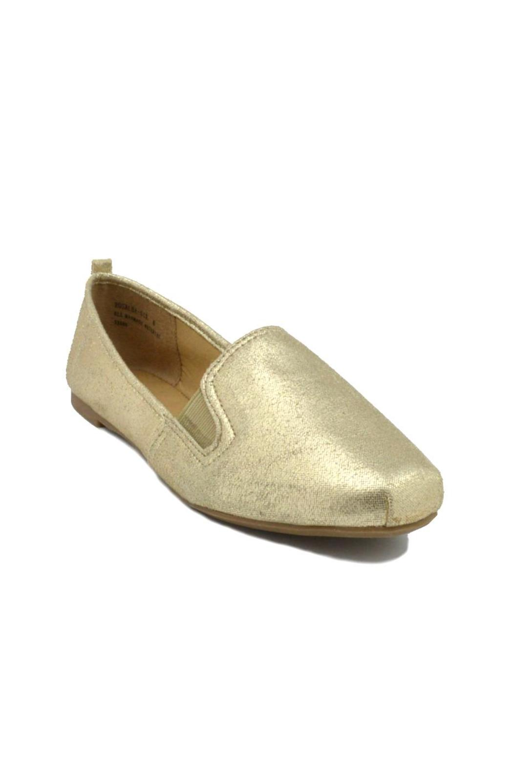 Bamboo Gold Metallic Loafers - Side Cropped Image