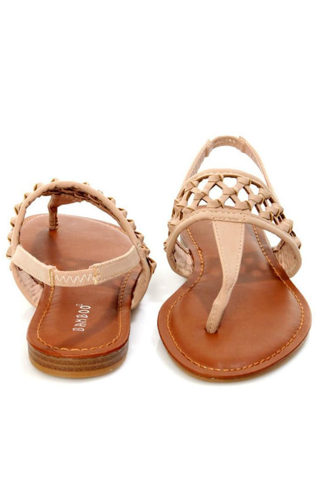 Bamboo Knotted Thong Sandals - Front Full Image
