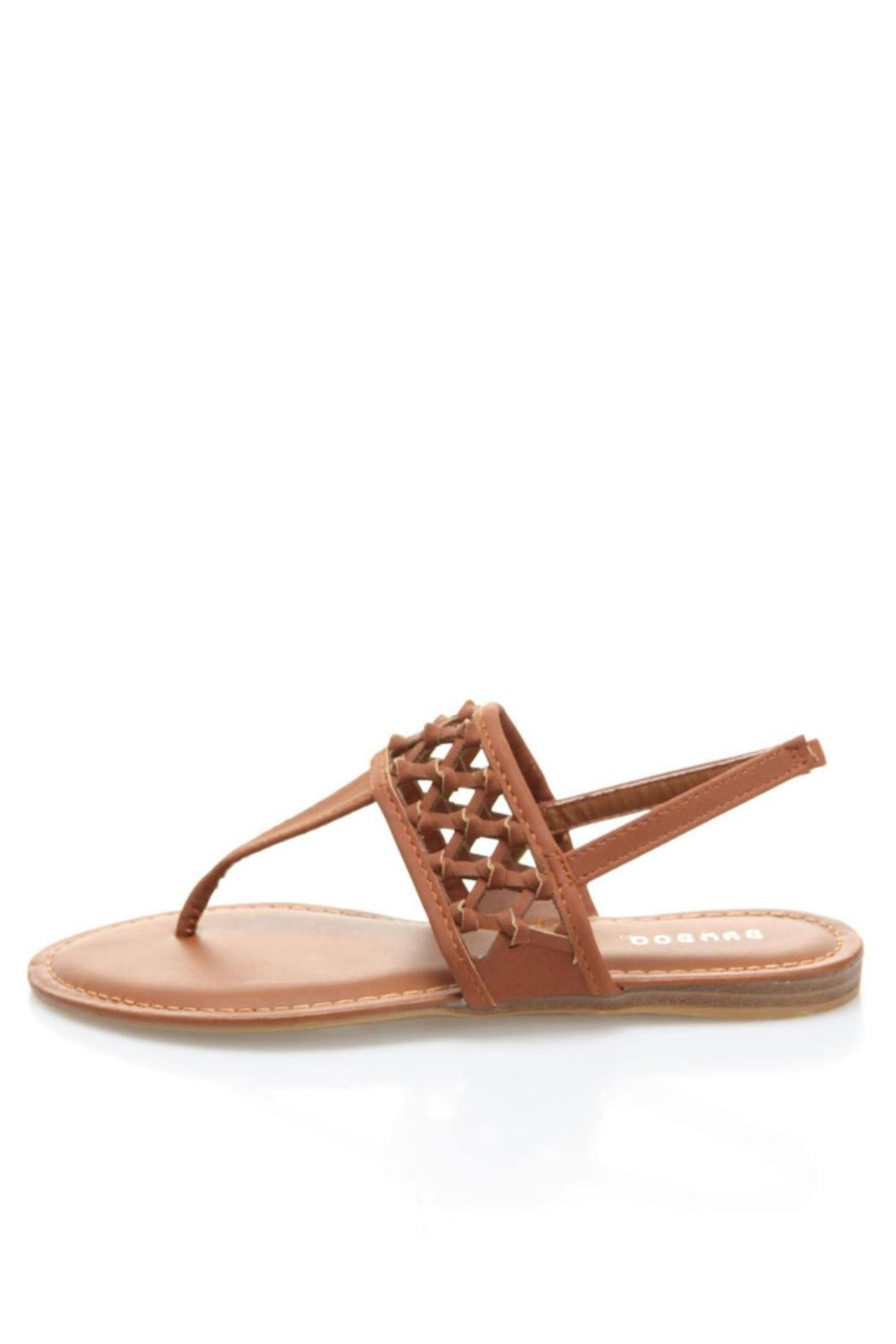 Bamboo Knotted Thong Sandals - Front Cropped Image