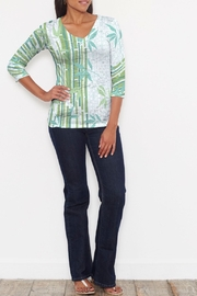 Whimsy Rose Bamboo Leaves Signature Shirt - Front cropped