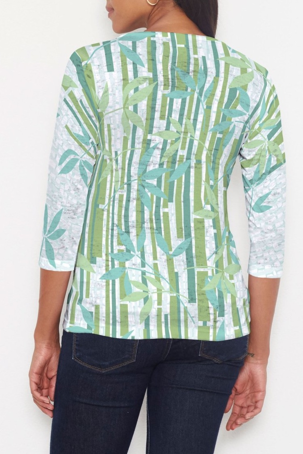 Whimsy Rose Bamboo Leaves Signature Shirt - Front Full Image