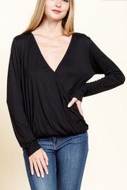 Mittoshop Bamboo Long Sleeve Surplice Top - Front cropped