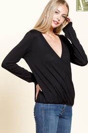 Mittoshop Bamboo Long Sleeve Surplice Top - Front full body
