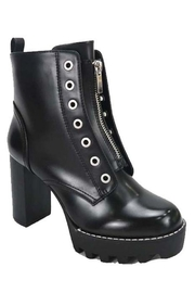 Bamboo Lug Sole Bootie - Front cropped