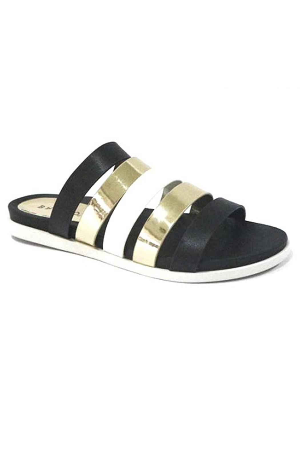 Bamboo Multi Strap Sandal - Front Cropped Image