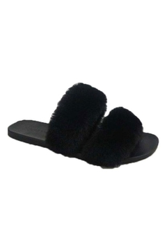 Shoptiques Product: Open-Toe Fuzzy Slippers