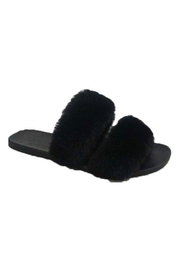 Bamboo Open-Toe Fuzzy Slippers - Product Mini Image