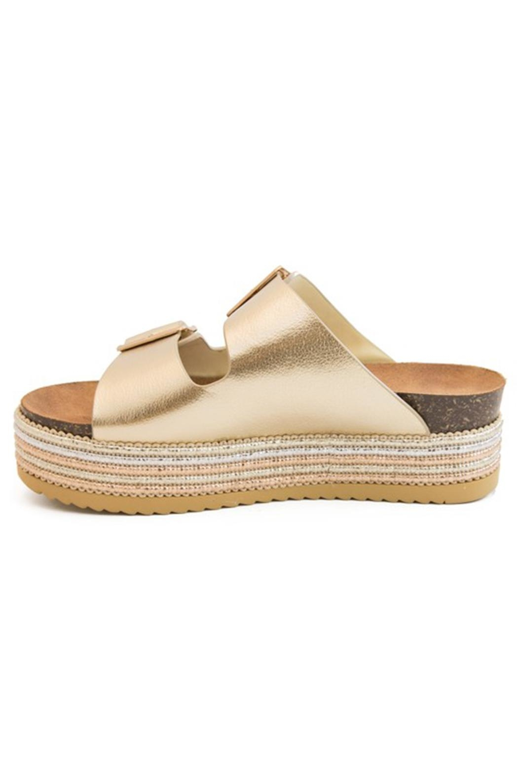 Bamboo Platform Footbed Sandal - Side Cropped Image