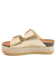 Bamboo Platform Footbed Sandal - Side cropped