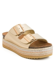 Bamboo Platform Footbed Sandal - Product Mini Image