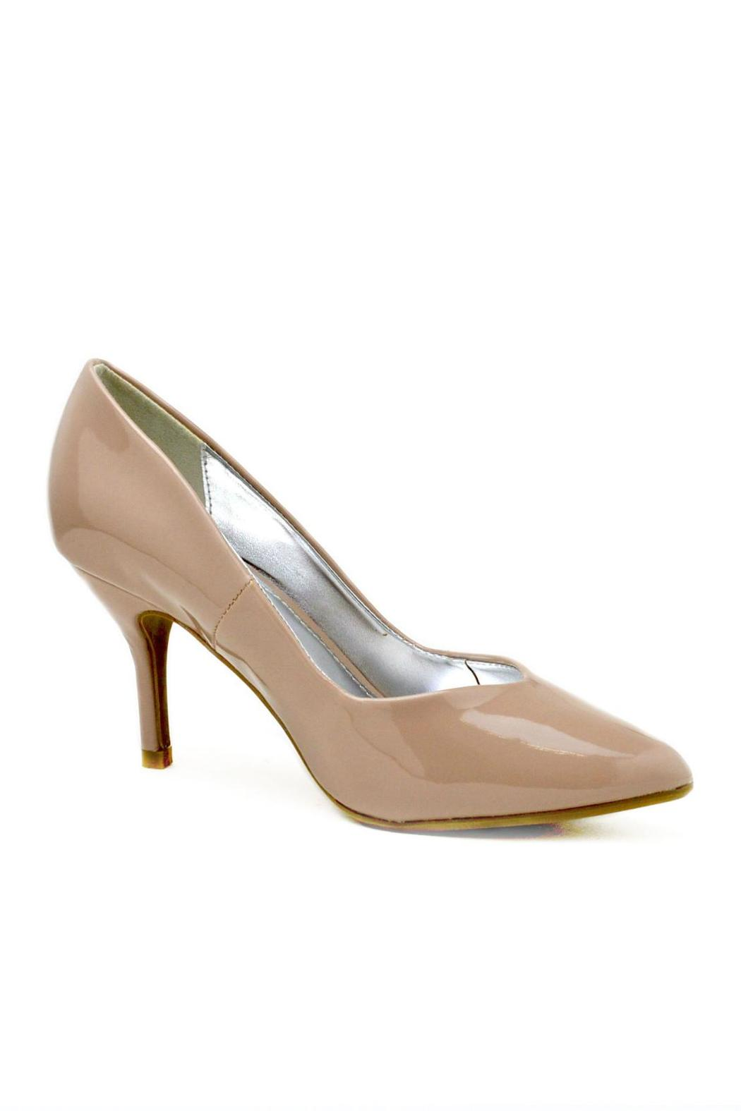 Bamboo Pointed Patent Pump - Front Full Image