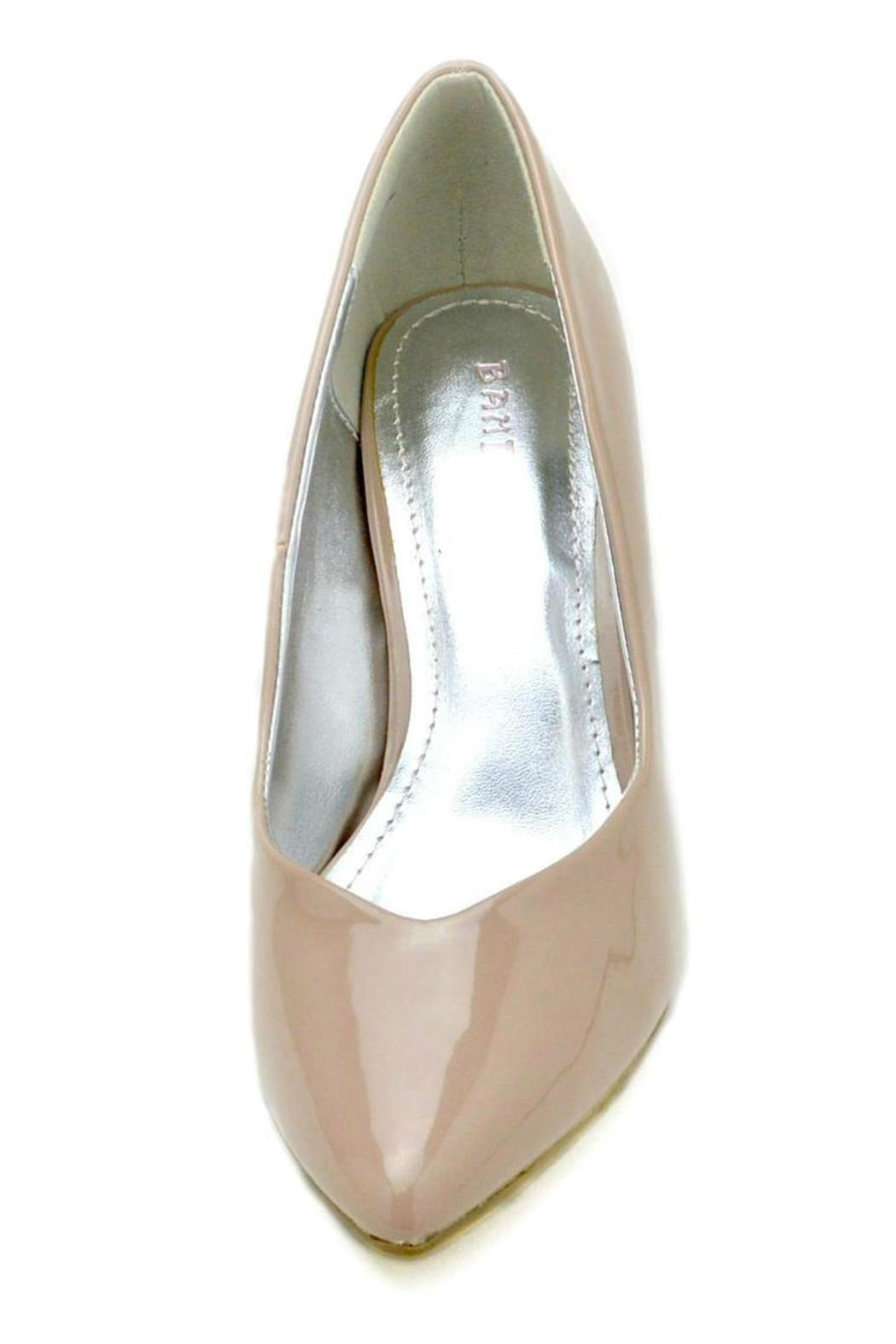 Bamboo Pointed Patent Pump - Back Cropped Image