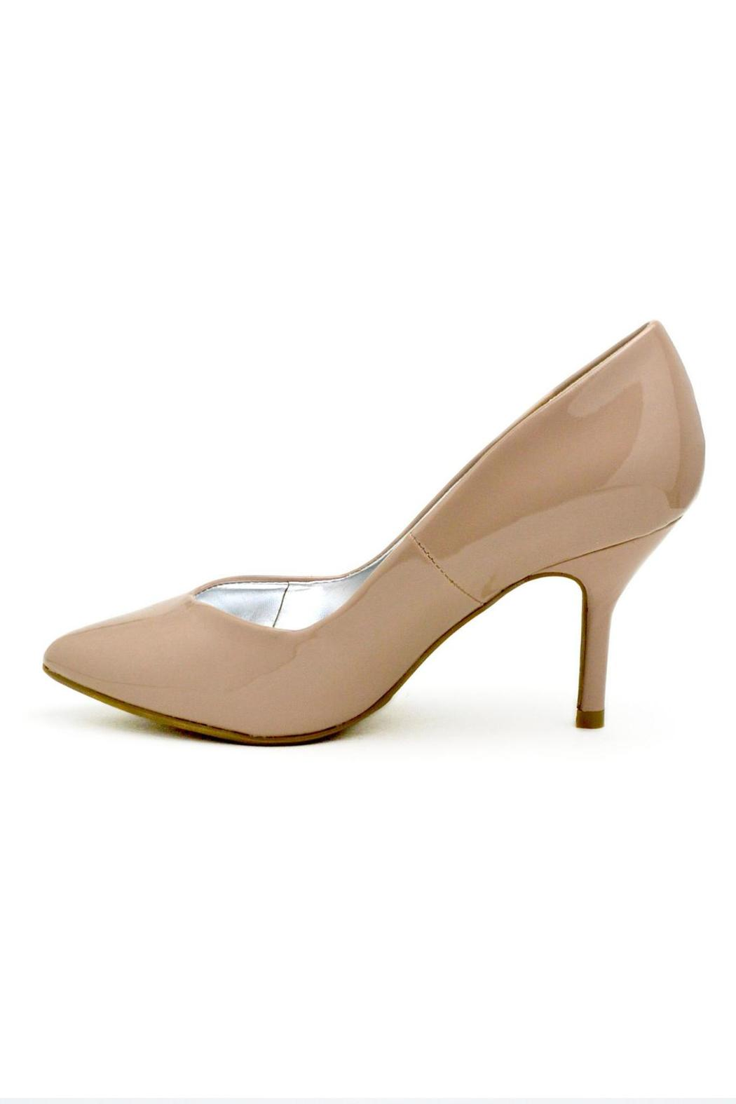 Bamboo Pointed Patent Pump - Front Cropped Image