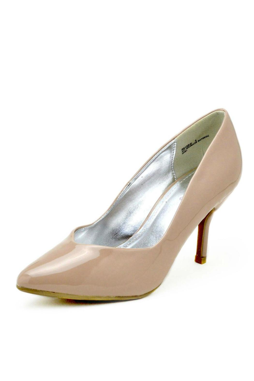Bamboo Pointed Patent Pump - Main Image