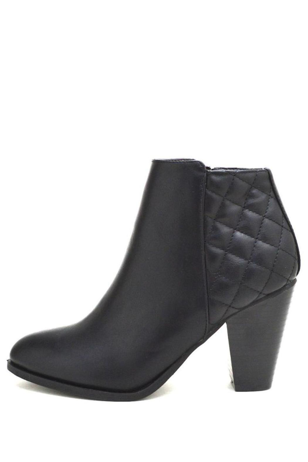 Bamboo Quilted Chunky Heel Booties from Georgia by North & Main ... : quilted booties - Adamdwight.com