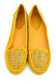 Bamboo Rhinestone Moccasin Loafers - Front full body
