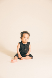 Greige Bamboo Short Romper - Product Mini Image