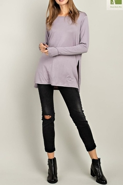 Mittoshop BAMBOO SIDE SLIT BASIC TOP - Product List Image