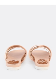Bamboo Strappy Metallic Slide - Side cropped