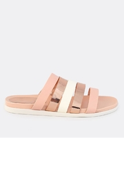 Bamboo Strappy Metallic Slide - Front cropped