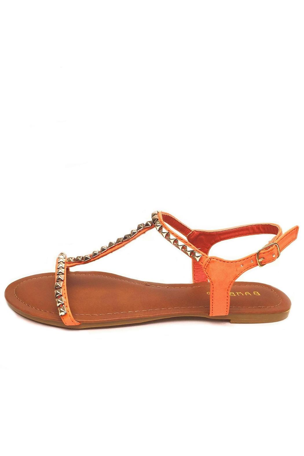 Bamboo Studded T-Strap Sandal - Front Cropped Image